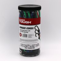 Hyper Tough 20 pcs Bungee Cord Set, Packed in Plastic Jar