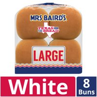 Mrs Baird's Large Hamburger Buns, 8 count, 18.25 oz