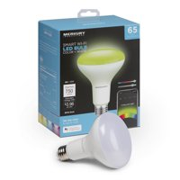 Merkury Innovations BR30 Smart Multicolor LED Bulb, 65W, Dimmable