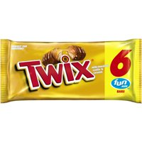 TWIX Caramel Chocolate Cookie Bar, Fun Size, 3.28 oz. (Pack of 6)