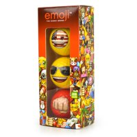 Emoji Golf Balls 3pk Flag Shades Fist Pump