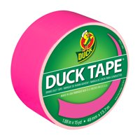 Duck Brand 1.88' Neon Pink Color Duct Tape, 15 Yd.