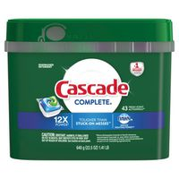 Cascade Complete Dishwasher Detergent Actionpacs with Dawn  Fresh Scent