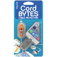 Tzumi Cord Bytes 2-Pack - Silicone Universally-Fitting Cable Protectors: Clown Fish and Mouse