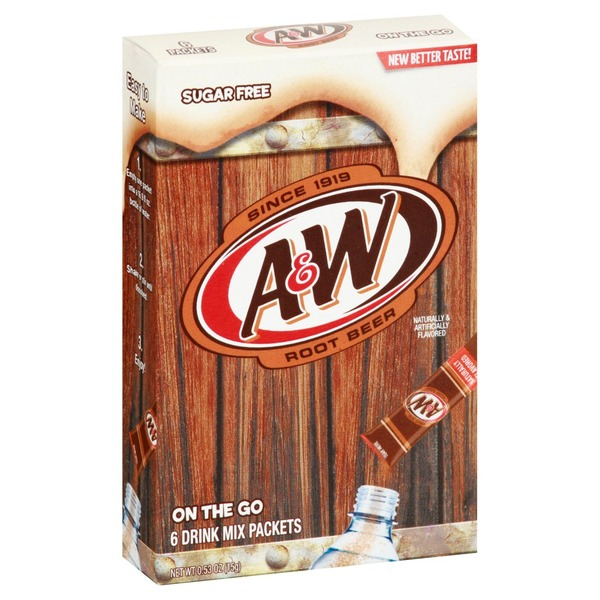 A&W Drink Mix, Sugar Free, Root Beer, On the Go