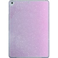 onn. Transparent Pink With Glitter Snap-On Tablet Case For Ipad 9.7-Inch (6Th Gen/2018), 9.7-Inch (5Th Gen/2017), Ipad Air, Ipad Air 2 & Ipad Pro 9.7-Inch