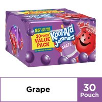 Kool-Aid Jammers Grape Flavored Juice Pouches, 30 ct Box