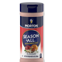 Morton Season-All Seasoned Salt - Blend of Salt and Savory Spices for BBQ, Grilling, and Potatoes, 8 OZ Canister