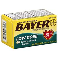 Bayer Asprin Regimen Pain Reliever Low Dose Enteric Coated Tablets