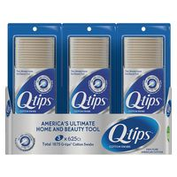 Q-Tips Cotton Swabs, 3 x 625 ct