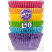 Wilton Rainbow Brights Cupcake Liners, 150-Count