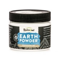 Redmond Earthpowder Peppermint with Charcoal Toothpowder - 1.8oz