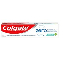 Colgate Zero Toothpaste - Natural Peppermint Flavor with Fluoride - 4.6oz