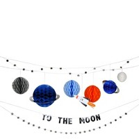 Meri Meri - To The Moon Garland - Party Decorations and Accessories - 1ct