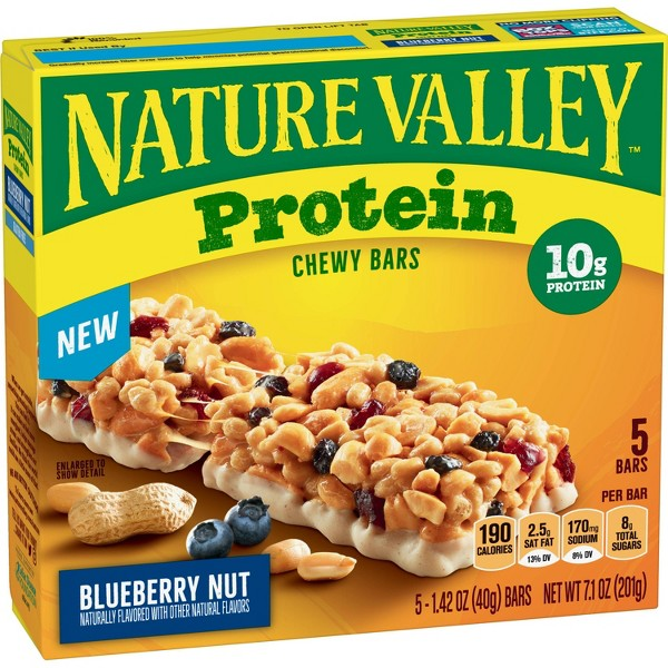 Nature Valley Protein Chewy Bar Blueberry Nut - 5ct