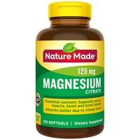 Nature Made Magnesium Citrate 250 mg Softgels - 120ct
