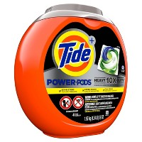 Tide Power Pods Heavy Duty Laundry Detergent Liquid Pacs Designed for Large Loads - 41ct