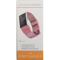 Fitbit Charge 3 Woven Nylon Band, Pink