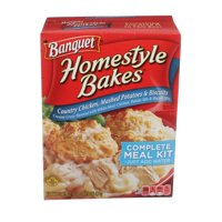 Banquet Homestyle Bakes Country Chicken Mashed Potatoes and Biscuits Meal Kit 30.9 Ounce