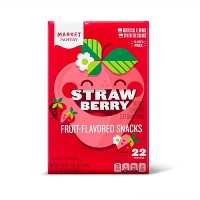 Strawberry Fruit-Flavored Snack 22ct - Market Pantry™