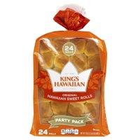 King's Hawaiian Round Hawaiian Sweet Bread Party Pack, 24 ct