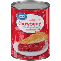 Great Value Pie Filling or Topping, Strawberry, 21 oz