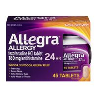 Allegra Allergy 24HR Indoor/Outdoor Tablets - 45 CT