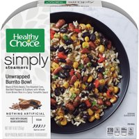 Healthy Choice Simply Steamers Frozen Dinner, Unwrapped Burrito Bowl, 9 Ounce