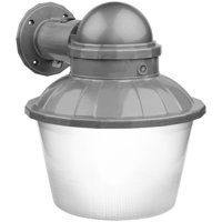 Brink's LED Large Area Dusk to Dawn Security Light, Silver Finish