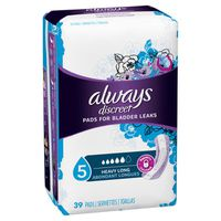 Always Discreet Incontinence Pads For Women, Heavy Absorbency