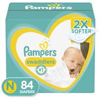 Pampers Swaddlers Newborn Diapers Size N 84 Count