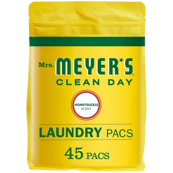 Mrs. Meyer's Monodose Laundry Detergent Honeysuckle - 28oz
