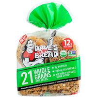 Dave's Killer Bread 21 Whole Grains and Seeds Organic Burger Buns