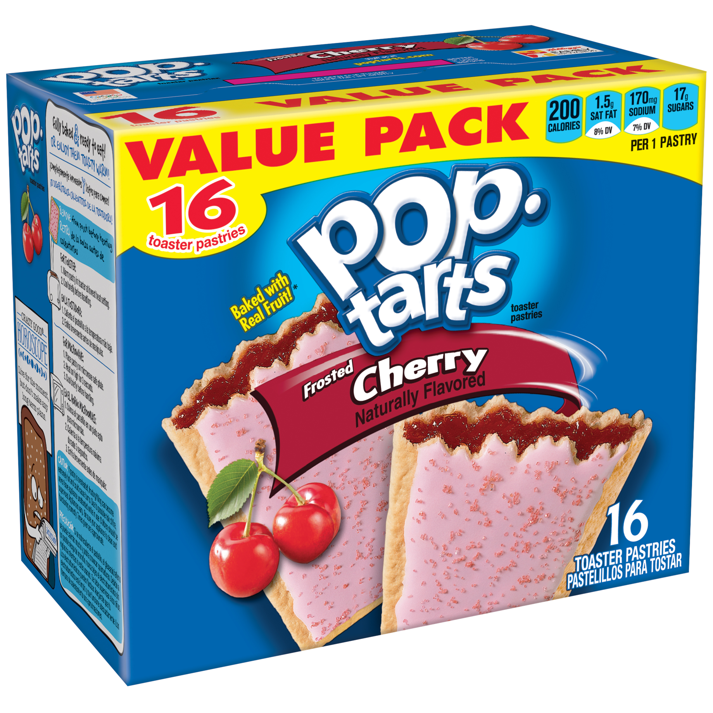 Pop-Tarts Frosted Cherry, 16 Toaster Pastries