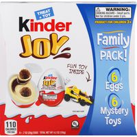 Kinder Joy Treat + Toy Cocoa Wafer Bites Sweet Cream