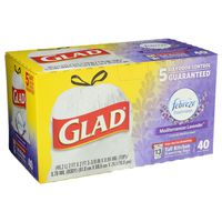 Glad Tall Kitchen Drawstring Bags Lavender