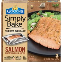 Gorton's Simply Bake Roasted Garlic & Butter Salmon Fillets, 2 count