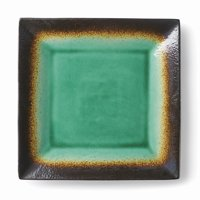 Better Homes & Gardens Jade Crackle Square Dinner Plate