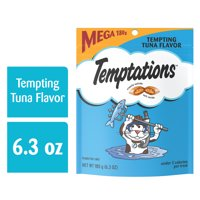 TEMPTATIONS Classic Treats for Cats Tempting Tuna Flavor, 6.3 oz. Pouch