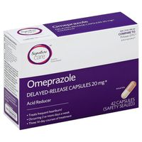 Signature Omeprazole, 20 mg, Delayed-Release Capsules