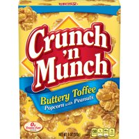 CRUNCH 'N MUNCH Buttery Toffee Popcorn with Peanuts, 6 oz.