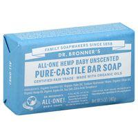 Dr. Bronner's Dr. Bronner's All-One Hemp Baby Unscented Pure-Castile Bar Soap