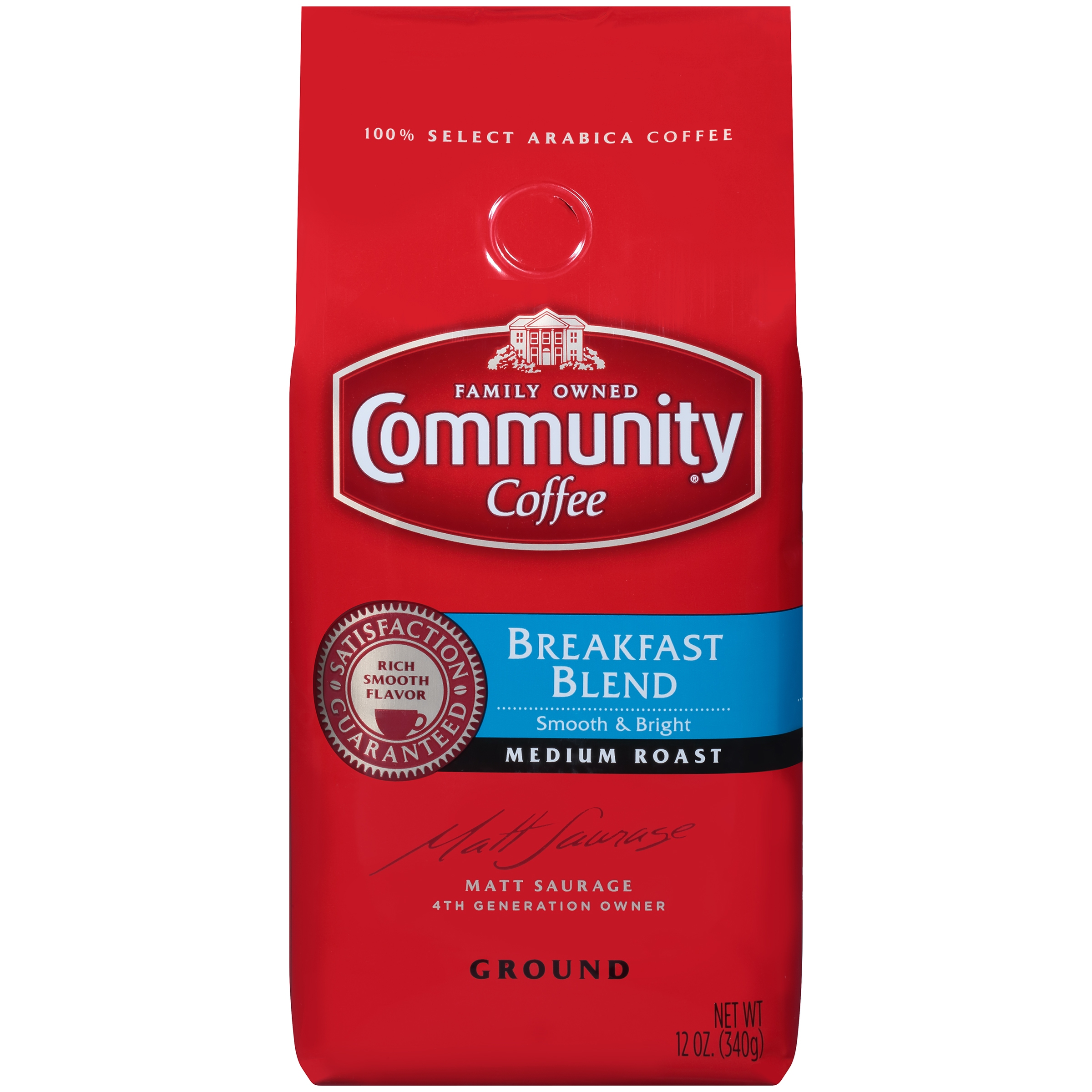 Community® Coffee Breakfast Blend Medium Roast Ground Coffee 12 oz. Bag