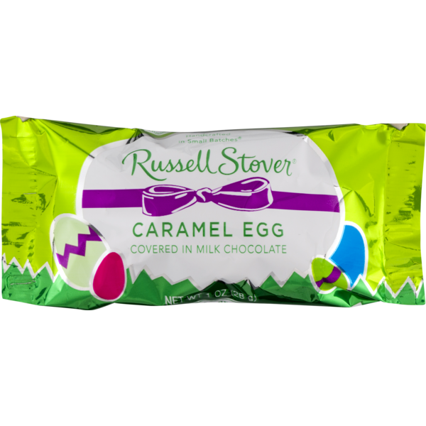 Russell Stover Caramel Egg Covered in Milk Chocolate