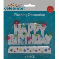 Celebrations Happy Birthday Flash Cake Decor
