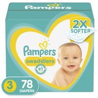 Pampers Swaddlers Soft and Absorbent Diapers, Size 3, 78 Ct