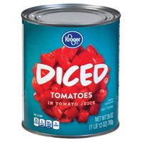 Kroger Diced Peeled Tomatoes Can