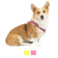 Vibrant Life Comfort Reflective Padded Step-In Dog Harness, Pink/Black, 21-27 in