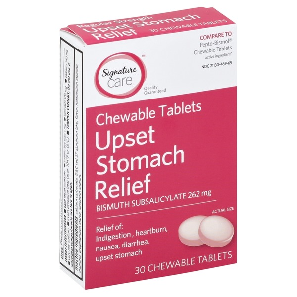 Signature Care Upset Stomach Relief, Bismuth Subsalicylate 262 Mg