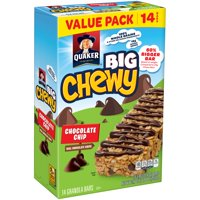 Quaker Big Chewy Granola Bars, Chocolate Chip, 14 count